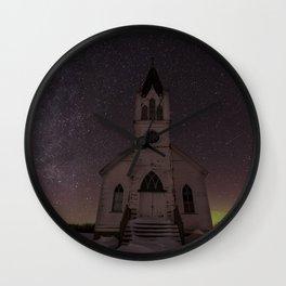Church Nightscape 2 Wall Clock