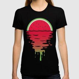 Watermelon Sunset 80s Style T-shirt