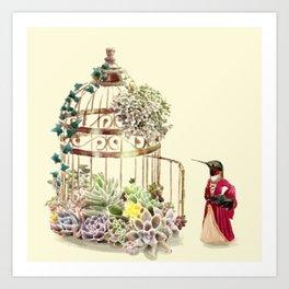 Lady Hummingbird Art Print