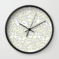 tequila Wall Clocks featuring Tequila party by Brendan Soulos Illustrations