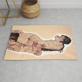 Egon Schiele - Woman with Homunculus Rug
