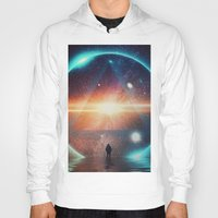 Hoodies featuring seeing the lights by Seamless