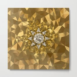POLYNOID Sun / Gold Edition Metal Print