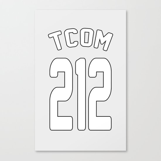 TCOM 212 AREA CODE JERSEY Canvas Print