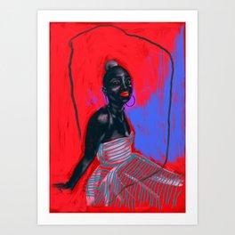 Black Lips Magic Art Print