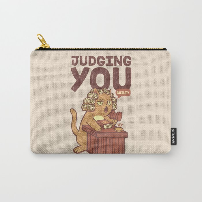 I'm Judging You Cat T-Shirt Carry-All Pouch