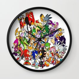 Sonic the hedgehog characters 3 Wall Clock
