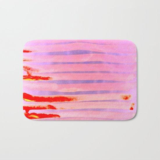 Pink Lava Lines Bath Mat