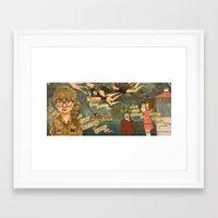 moonrise kingdom Framed Art Prints featuring Moonrise Kingdom by Anne Lambelet