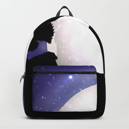 Wolf Howling to the Moon Backpack
