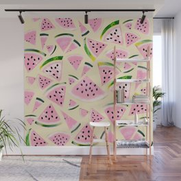 Watermelon Twist Vibes #6 #tropical #fruit #decor #art #society6 Wall Mural