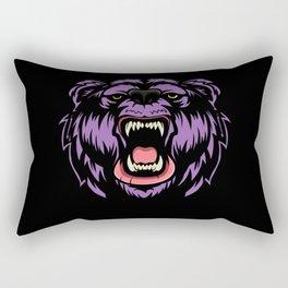 Screaming Bear Rectangular Pillow