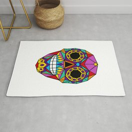 Mexican Skull - Day of the Dead - Colourful Rug