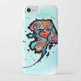 Alaska Love iPhone Case