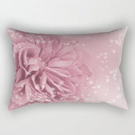 Light Pink Rose with hearts #1 #floral #art #society6 Rectangular Pillow