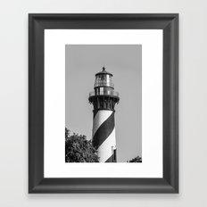 St Augustine Lighthouse Framed Art Print