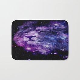 leo lion purple blue Bath Mat