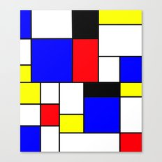 Red Blue Yellow Geometric Squares Canvas Print