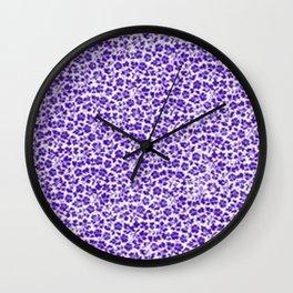 Purple Vintage Flowers Wall Clock