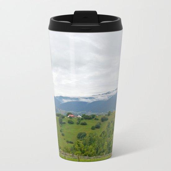 Beautiful Transylvanian mountain landscape Metal Travel Mug