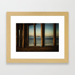 Pier to Pier Harford Pier through Avila Pier San Luis Obispo Framed Art Print