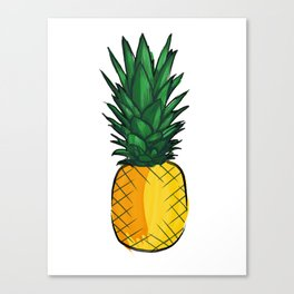Louder Than Words – Pineapple! Canvas Print