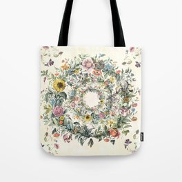 Circle of Life Cream Tote Bag