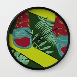 Summer-Socks & Style Inverted 1st Edition Wall Clock