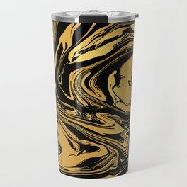 Black and Gold Marble Edition 2 Travel Mug