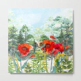 Woodland Flowers Metal Print