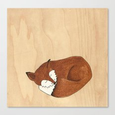 Slumbering Mr Fox Canvas Print