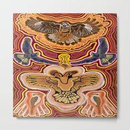 The Yellow-Tail and Kookaburra Spirits Metal Print
