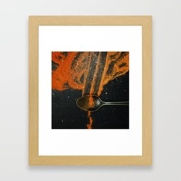Spoonful of spice Framed Art Print