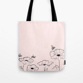 Poppies & Honeybees Tote Bag