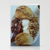 breakfast Stationery Cards featuring Breakfast by Gurevich Fine Art
