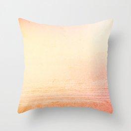 Modern abstract orange summer ombre pattern Throw Pillow