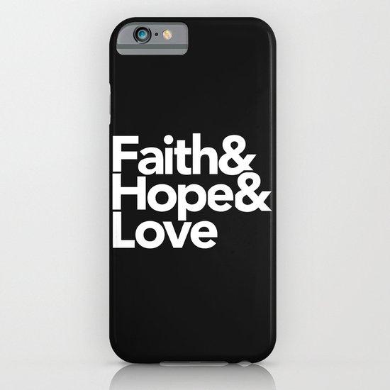 Faith & Hope &  Love Helvetica iPhone & iPod Case