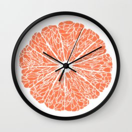 Grapefruit to Suit Wall Clock