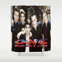 one direction Shower Curtains featuring One Direction by giftstore2u