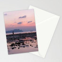 Crabbing at dawn Stationery Cards