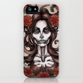 Blossoming Day of the Dead iPhone Case