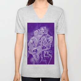 Halloween Skeleton Welcoming The Undead Unisex V-Neck