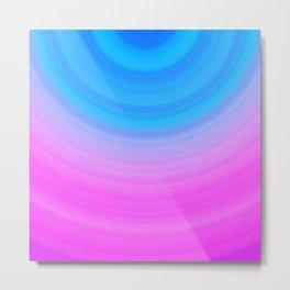 Pink & Blue Semicircles Metal Print