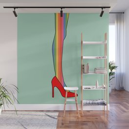 Rainbow Pride Stockings - Red Shoes Wall Mural