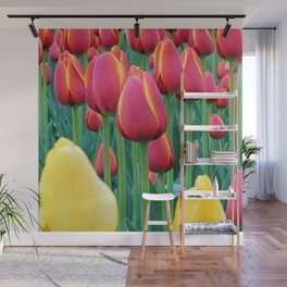 Tulips Red and Yellow Wall Mural