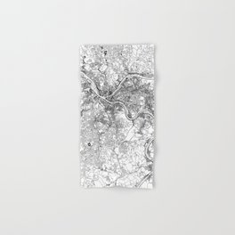 Pittsburgh White Map Hand & Bath Towel