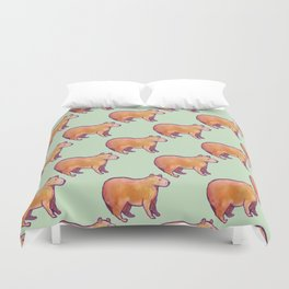 Capybara Pattern Duvet Cover