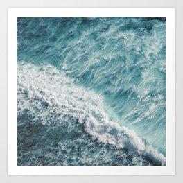 Saltwater Feelings Ocean Surf Art Print