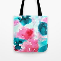 water color Tote Bags featuring Water color by moniquilla