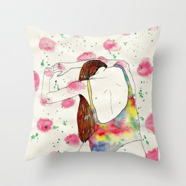 An erotic point of view - back Throw Pillow
